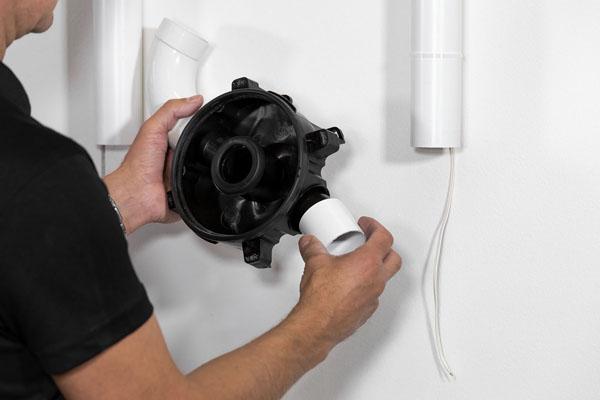 montering väggfäste för centraldammsugare vita rör